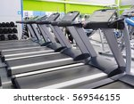 interior of a fitness hall with ... | Shutterstock . vector #569546155