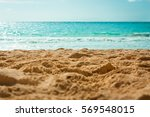 sun shines down on a deserted... | Shutterstock . vector #569548015