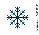 snowflake winter symbol icon... | Shutterstock .eps vector #569552995