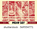 restaurant menu design elements.... | Shutterstock .eps vector #569554771