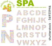 spa. vector letter collection.... | Shutterstock .eps vector #56955946