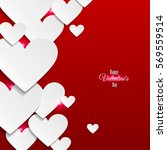 red romantic background with... | Shutterstock .eps vector #569559514