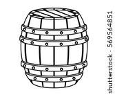 contour wooden barrel icon...