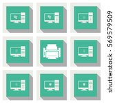 computer icons set. printer sign | Shutterstock .eps vector #569579509