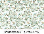seamless tropical flowers in... | Shutterstock . vector #569584747