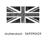 hand drawn black and white...   Shutterstock .eps vector #569590429