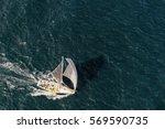 yachting. sailing yacht race.... | Shutterstock . vector #569590735