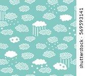 ornate sky pattern. vector... | Shutterstock .eps vector #569593141