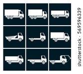 truck icons set | Shutterstock .eps vector #569596339