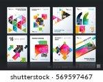 business vector template mega... | Shutterstock .eps vector #569597467