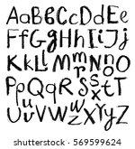 vector alphabet. hand drawn...   Shutterstock .eps vector #569599624