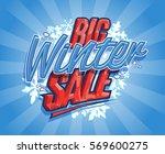 big winter sale design  retro... | Shutterstock .eps vector #569600275