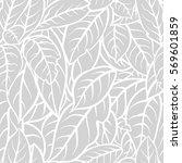 Outline Leaf Pattern.  Seamles...
