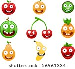 vector crazy fruits | Shutterstock .eps vector #56961334