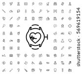 heartbeat watch icon... | Shutterstock .eps vector #569619154