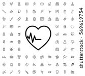 heartbeat icon illustration... | Shutterstock .eps vector #569619754
