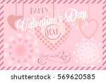 happy valentines day greeting... | Shutterstock .eps vector #569620585