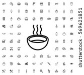 soup icon illustration isolated ...   Shutterstock .eps vector #569621851