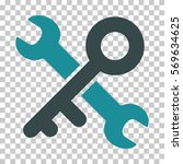 soft blue key tools interface... | Shutterstock .eps vector #569634625