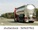 tanker storage truck on the... | Shutterstock . vector #569637961