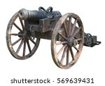 old cannon isolated on white... | Shutterstock . vector #569639431