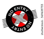 No Entry Rubber Stamp. Grunge...