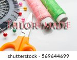 close up  text and equipment... | Shutterstock . vector #569644699