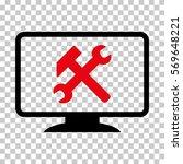 intensive red and black desktop ... | Shutterstock .eps vector #569648221