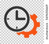 orange and gray time setup gear ... | Shutterstock .eps vector #569650669