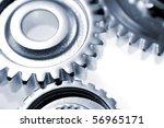 three metal gears over white | Shutterstock . vector #56965171