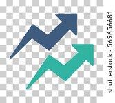 trends icon. vector... | Shutterstock .eps vector #569656681
