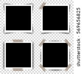 set of retro photo frames with... | Shutterstock .eps vector #569656825