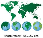 set of globes with different...   Shutterstock .eps vector #569657125