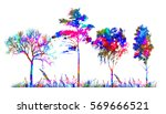 variegated silhouette of a...   Shutterstock .eps vector #569666521