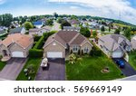 residential neighborhood... | Shutterstock . vector #569669149