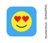 love smile interface toolbar... | Shutterstock .eps vector #569669941