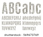 the letters of the latin... | Shutterstock .eps vector #569673769
