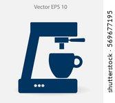 coffee machine vector icon | Shutterstock .eps vector #569677195