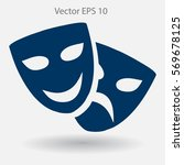 theatrical masks laughter and... | Shutterstock .eps vector #569678125