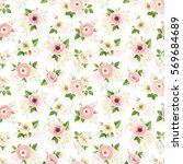 vector seamless pattern with... | Shutterstock .eps vector #569684689