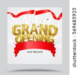 grand opening background with... | Shutterstock .eps vector #569685925