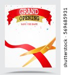 grand opening background with... | Shutterstock .eps vector #569685931