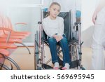 wheelchair disability in... | Shutterstock . vector #569695945