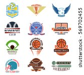 sport team badge vector set. | Shutterstock .eps vector #569702455