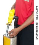 asian man filling a gasoline... | Shutterstock . vector #56970295