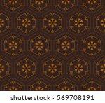 modern geometric seamless... | Shutterstock .eps vector #569708191