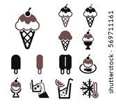 icecream icon set