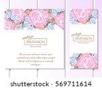 romantic invitation. wedding ...   Shutterstock .eps vector #569711614