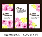 romantic invitation. wedding ... | Shutterstock . vector #569711644