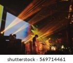 abstract blurred .concert in...   Shutterstock . vector #569714461